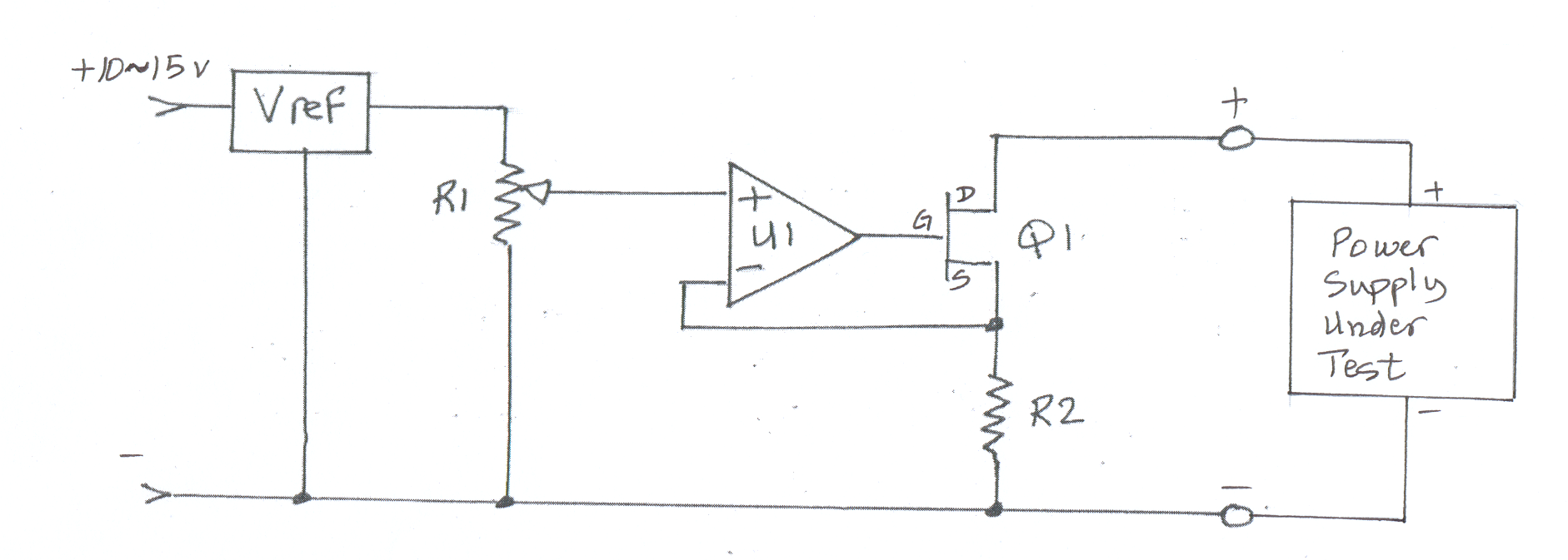 Dynamic Load Adjustable Regulated Dc Power Supply Circuit Diagram Constant Current Operation